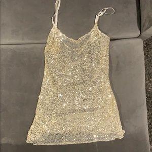 Free People gold tunic tank/dress